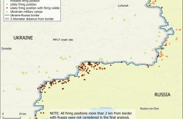 Bellingcat опубликовал доказательства артобстрелов Донбасса с территории РФ