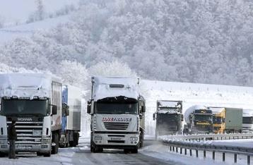 На Львовщине и Закарпатье из-за непогоды ограничили движение грузовиков
