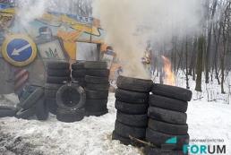 Блокада автомобилистов: на въездах в Киев подожгли покрышки