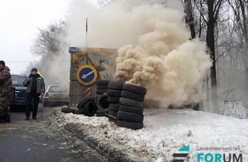 Полиция: Автомобильная блокада Киева проходит без грубых нарушений
