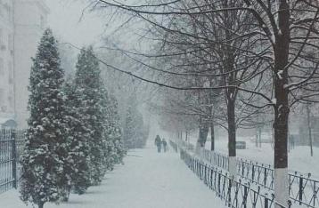 В Киеве – сильный снегопад, въезд фур ограничен