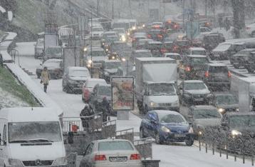 Пробки в Киеве достигли 10 баллов