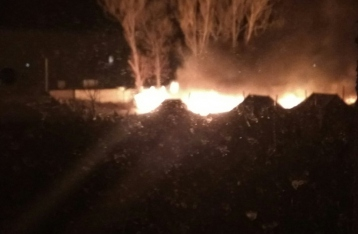 В Коломые горел военный палаточный городок, есть пострадавшие
