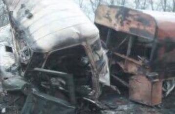 На Луганщине в результате попадания снаряда в автомобиль погиб военный