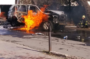 В центре Мариуполя взорвался автомобиль, погиб правоохранитель
