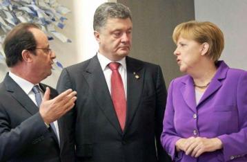 Порошенко рассказал Меркель и Олланду о нарушении «тишины» на Донбассе