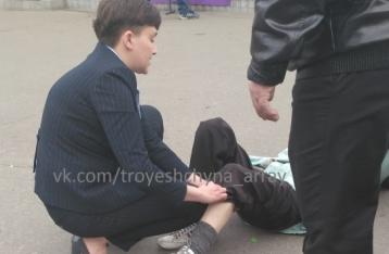Автомобиль с Савченко сбил пенсионерку в Киеве