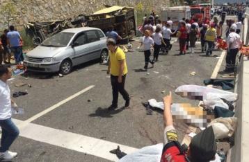 В Турции перевернулся туристический автобус, погибли 20 человек