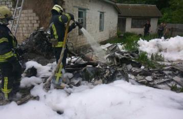 Под Черниговом разбился легкомоторный самолет, пилот погиб