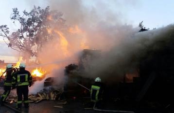 Пожар под Киевом потушили