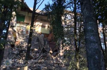 На Волыни обрушилась стена колледжа