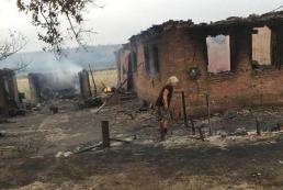 В Донецкой области пожар уничтожил целое село