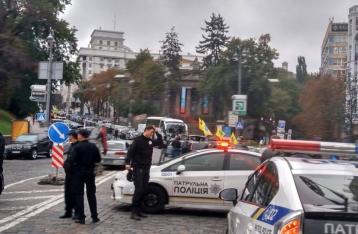 Пикетчики парализовали движение в центре Киева