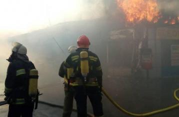 На столичном рынке «Колибрис» произошел масштабный пожар
