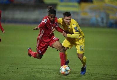 Украина вырвала победу над Люксембургом и вышла на первое место в группе