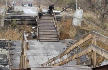В «ЛНР» заявили, что ремонт моста в Станице Луганской сочтут за акт агрессии