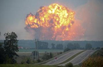 На военных складах в Калиновке прогремели взрывы