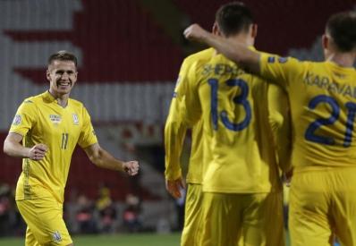 Сборная Украины спасла матч с сербами в добавленное время