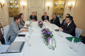 Зеленский встретился с главой МВФ