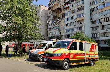 В МВД назвали основную версию взрыва в киевском доме