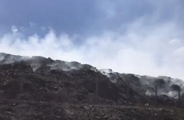 В Северодонецке из-за лесного пожара загорелась городская свалка