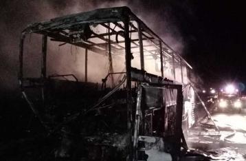 В РФ попал в ДТП и загорелся автобус из Донецка, пострадали украинцы