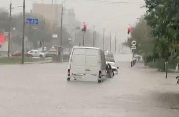 Киев затопило сильным ливнем