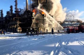 В Ивано-Франковской области горел крупный химзавод