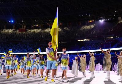 Сборная Украины прошла на параде открытия Олимпийских игр