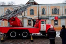 На Андреевском спуске горело здание