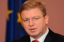 Фюле поставив Україні умови підписання Угоди про асоціацію
