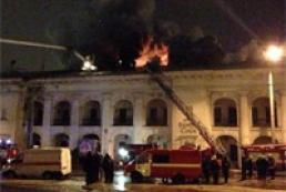 В Киеве ночью горел Гостиный двор