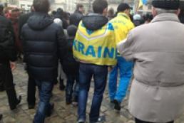 Львовяне массово спели государственный гимн Украины