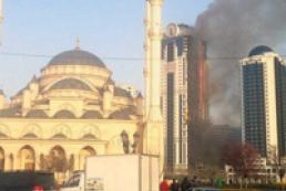 В Чечне горит самый высокий небоскреб