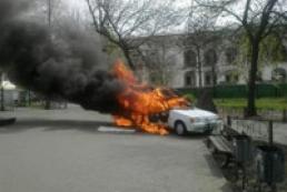 В центре Киева сгорела автокофейня