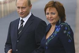 Путін розлучається з дружиною