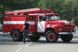 В Киеве на Окружной дороге произошло возгорание фуры