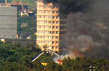Пожар в гостинице «Верховина» локализован