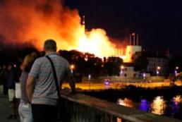 В резиденции президента Латвии произошел сильный пожар