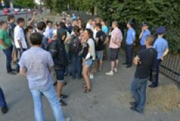 Ситуация возле Святошинского райуправления стабильная
