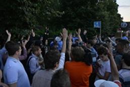 Пикетчики, собравшиеся у киевского главка милиции, требований не выдвигали