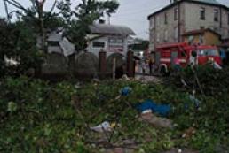 Ураган повалил в Самборе 70 деревьев и разрушил десятки крыш