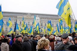 В Киеве началось мирное шествие в поддержку евроинтеграции