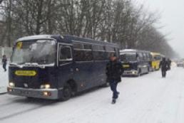 Із Василькова до Києва виїхали автобуси з військовими