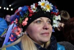 Украинцы спели гимн в новогоднюю ночь на Майдане