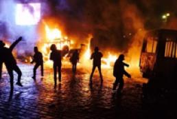 За беспорядки в Киеве задержали уже около десяти человек