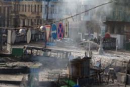 Ситуация на улице Грушевского остается напряженной