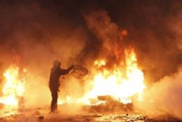 Напротив стадиона «Динамо» горит дом