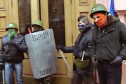 Активісти «Спільної справи» залишають будівлю Мінагропроду