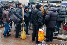 Активисты Майдана подрались с участниками акции «За чистый Киев»